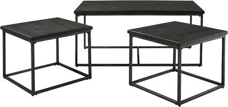 Montvale Collection 20033 3-Piece Living Room Table Set with Coffee Table and 2 End Tables in