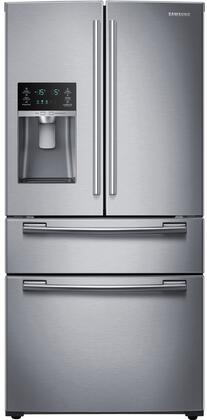 "RF25HMEDBSR 33"" French Door Refrigerator with 25 cu. ft. Capacity  FlexZone Drawer  Twin Cooling Plus System  Ice Master  High-Efficiency LED  EZ-Open Handle"
