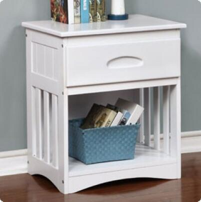 0260-W 23 inch  1-Drawer Nightstand in