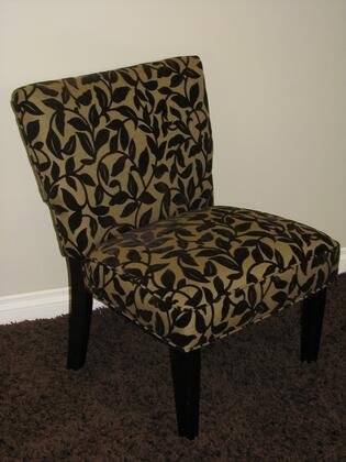 72850 28 inch  Oversize Accent Chair with 2-Tone Fabric and Dark Finished Wood Legs in Brown