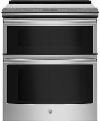 GE Profile PS960SLSS 30 Inch Slide-in Electric Range with Smoothtop Cooktop, in Stainless Steel