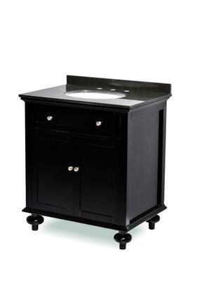 ST2-24-ESP Belmont Dceor Madison single sink bathroom vanity with Granite Top  Turned Legs  and Simple Pulls in