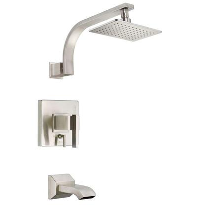 D512044BNT Sirius 1-Handle Pressure Balance Tub and Shower Faucet Trim Kit in Brushed Nickel