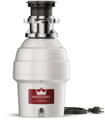 L5000TC 9 inch  Legend Series Waste Disposer with 3/4 HP  10 Year Warranty  Batch Feed  Stainless Steel Grinding Components  and 2700 RPM High Speed Permanent