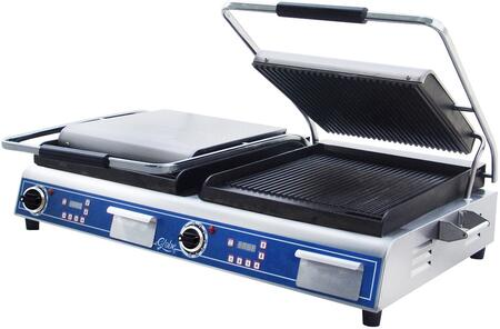 GPGDUE14D Deluxe Double Sandwich Grill with Grooved Plates  14