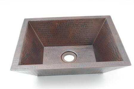 CS-BAR-DWL-REC-DK 18 Copper Handmade Bar Vessel Double Wall Rectangular