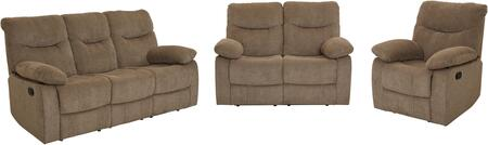 Dinero Collection 4219-391-291-981 3-Piece Living Room Set with Reclining Sofa  Reclining Loveseat and Recliner in