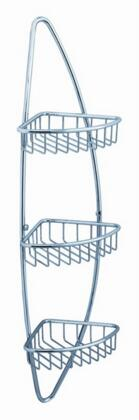 Magnifico Collection FAC0105 3 Tier Corner Wire Basket  with Heavy Duty Brass Construction and Triple Chrome