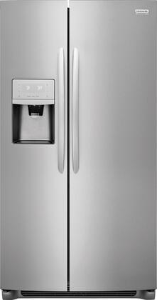 Frigidaire FGSS2635TF 36 Side-by-Side Refrigerator with 25.6 cu. ft. Capacity External Water and Ice Dispenser in Stainless Steel