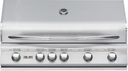DSBQ40RL 40 inch  Liquid Propane Built-In Grill with 304 Stainless Steel Construction  52500 BTU Max Heat Output  5 Burners  Integrated Temperature Gauge  and
