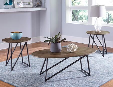 Orion Collection 21373 3-Piece Living Room Table Set with Coffee Table and 2 End Tables in