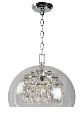 Roxy 93851CH 1-Light Pendant Ceiling Light with 1- Medium Base Socket  60 Watt Maximum  14