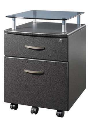 RTA-S06-GPH06 Techni Mobili Rolling Glass Top File Cabinet in