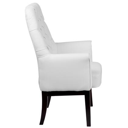BT-444-SD-WH-GG High Back Traditional Tufted White Leather Side Reception