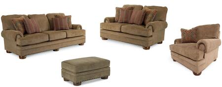 Cooper Collection 732131721SLCO 4-Piece Living Room Set with Sofa  Loveseat  Living Room Chair and Ottoman in Applause