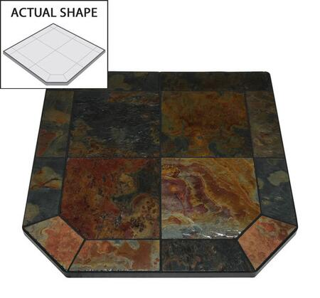 AP314 40 inch  x 40 inch  Flat Wall Hearth Board from the Natural Cleft Collection  Asian