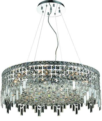 V2031D28C/RC 2031 Maxime Collection Chandelier D:28In H:10.5In Lt:12 Chrome Finish (Royal Cut