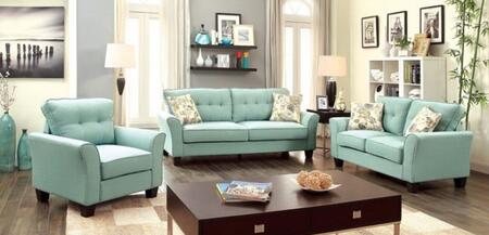 Claire Collection CM6266BL-SLC 3-Piece Living Room Set with Stationary Sofa  Loveseat and Chair in