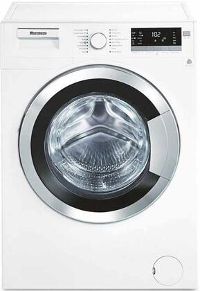 "WM98400SX 24"" 2.5 cu. ft. Capacity Front Load Washer With Stainless Steel Drum  LED Digital Display  Variable Spin Speed From 600 To 1400 RPM In White with"