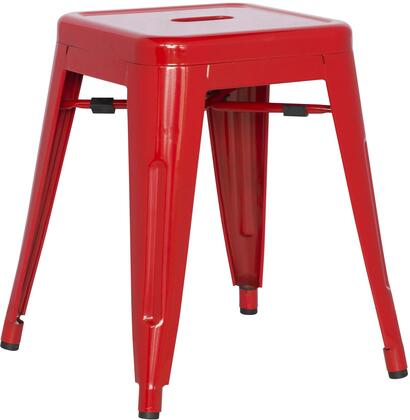 8018-SC-RED Galvanized Steel Side Chair in