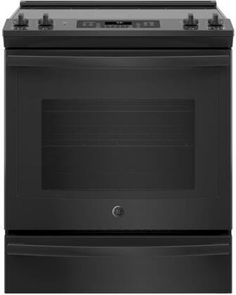 JS760DLBB 30 Slide In Electric Convection Range with 5.3 cu. ft. Capacity  Fast Preheat  Self-Clean with Steam Clean Option  Smooth Glide Storage