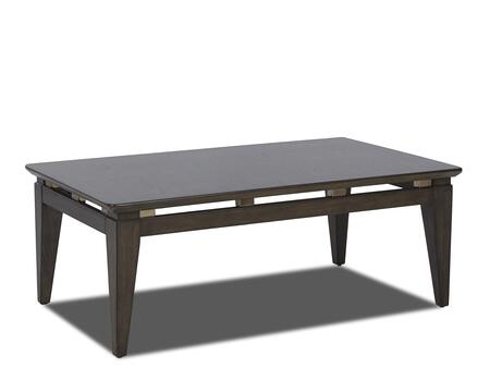 Regency Collection 645-819-CTBL 48 inch  Cocktail Table with Oak Veneer Construction  Floating Metal Accents and Tapered Legs in