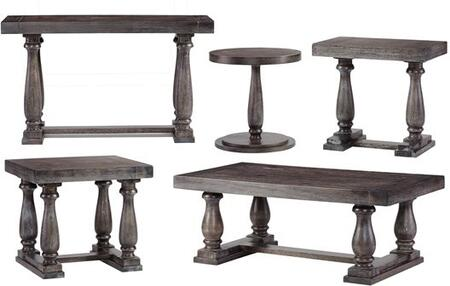Muse T436-04-01-05-23-29 with End Table  Cocktail Table  Sofa Table and 2 Chairside Table in Weathered