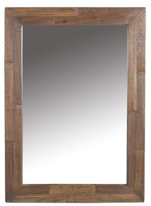 Artezia WAT4322 43 inch  x 33 inch  Rectangular Mirror with Faux Live-Edge and Distressed Wood Frame in Weathered Natural