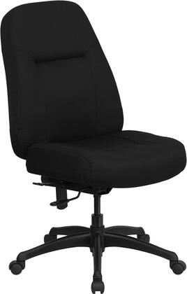 WL-726MG-BK-GG HERCULES Series 400 lb. Capacity High Back Big & Tall Black Fabric Office Chair with Extra WIDE