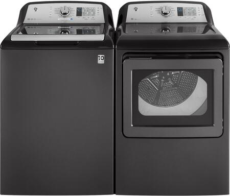 Grey Top Load Laundry Pair with GTW685BPLDG 27