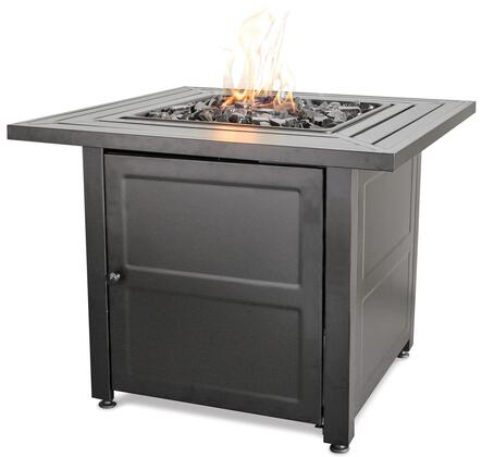 GAD1423M Endless Summer 30 inch  Outdoor Firepit with Stainless Steel Burner  Electronic Ignition  and Steel Mantel  Up to 30000 BTUs  Liquid