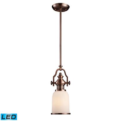 66142-1-LED Chadwick 1-Light Pendant in Antique Copper -