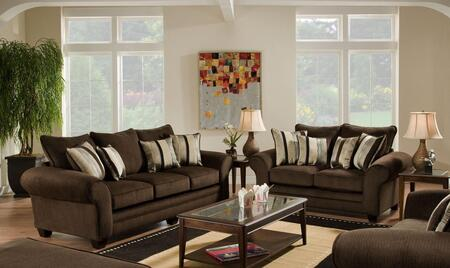 1837033920 Clearlake Sofa + Loveseat with 16 Gauge Border Wire  kendu Onyx Toss Pillows  Kiln Dried Hardwood Frames and Hi-Density Foam Core Cushions in