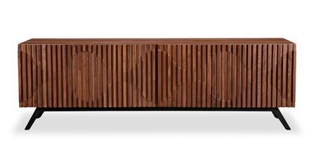 STO-SB-SEMIBREVE-WAL Semibreve Mid-Century Modern Credenza  Walnut