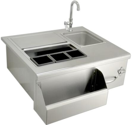 SOBT30 Drop In Stainless Steel Beverage System Bar Tender with Sink and Cooler  Flush Mount and Self Rimming