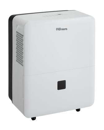 """DDR50B3WP 24"""" High Energy Star  Rated 50-pint Dehumidifier with Removable Air Filter  R410a Refrigerant  Quiet operation  Built-in Easy-roll Casters and Auto"""