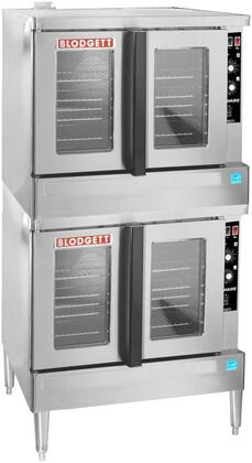 Zephaire-100-G-ES DBL Zephaire Series Energy Star Standard Depth Gas Convection Oven with Rigid Insulation  Porcelain Liner  Dependent and Heavy Duty Doors: