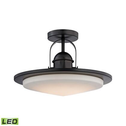LC412-10-45 Montebello 1 Light LED Semi Flush In Oiled Bronze And Opal
