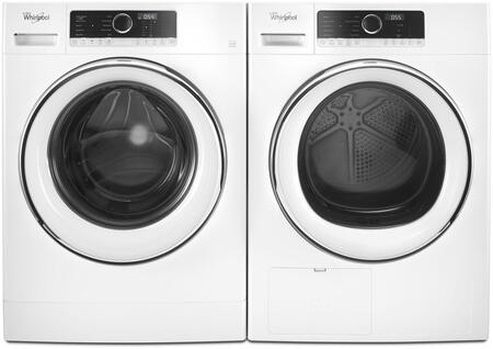 White Front Load Compact Laundry Pair with WFW5090GW 24
