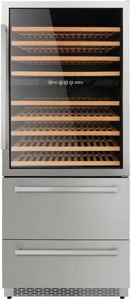 Thor kitchen HWC2404U 208 Bottles 30 Built-in Wine Cooler, Stainless Steel