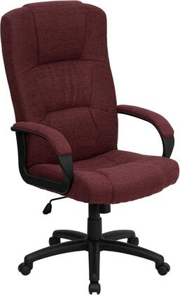 BT-9022-BY-GG High Back Burgundy Fabric Executive Office