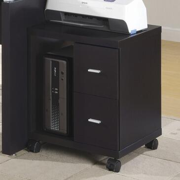 I 7004 Office Cabinet - Cappuccino 2 Drawer On