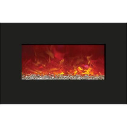 4423WHTGLS 44 inch  x 23 inch  Black Glass