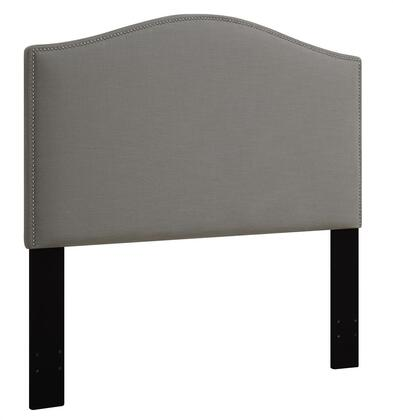 DS-D016-250-372 Fabric Upholstered Headboard For Full or Queen Bed with Nail Head Accents in