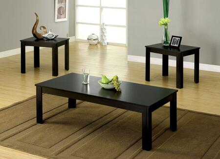 Bay Square Collection CM4329-3PK 3-Piece Living Room Table Set with Coffee Table and 2 End Tables in