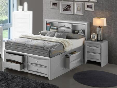 G1503G-FSBN 2-Piece Bedroom Set with Full Storage Bed + Single