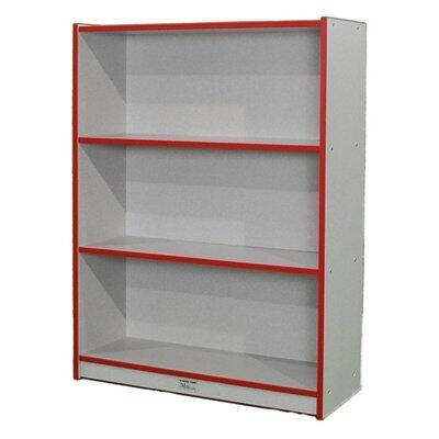 M48SCASERD 48 Single-Sided Bookcase Maple Finish  Edge Color -