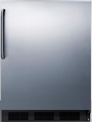 FF6BCSS 24 inch  Commercial  Medical Freestanding or Built In Compact Refrigerator with 5.5 cu. ft. Capacity  Crisper  Interior Light and Door Storage  in Stainless