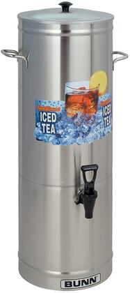 330000001 Cylinder Style Iced Tea and Coffee Dispenser with 5 Gallons Capacity  Side Handles  Full-Color Iced Tea Decal and Sump Dispense Valve  in Stainless