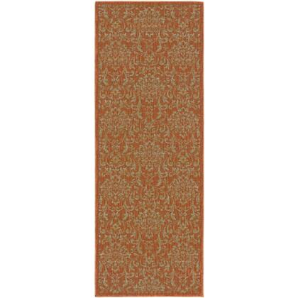 Arabesque Abs3007-2747 27 X 47 Rectangular 100% Polypropylene Rug With No Shedding  Easy Care  Medium Pile  And Machine Made In Egypt In Chocolate  Mocha